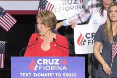 Fiorina sings soft tune for Cruz's daughters