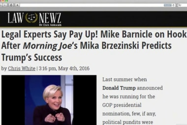 Breaking: Barnicle's gotta buy Mika a truck