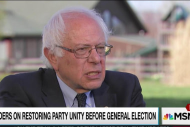 Sanders condemns disruptions, ok with protest