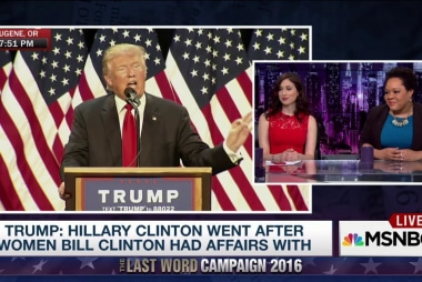 Trump: Hillary Clinton was a nasty enabler