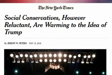 Social conservatives still warming to Trump