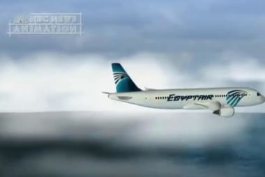 Possible fire erupts onboard EgyptAir...