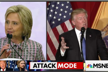 Clinton and Trump in attack mode
