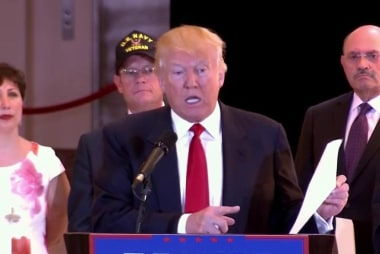 Trump defends doling out funds for vets