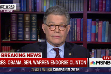 Al Franken on Clinton's big endorsements
