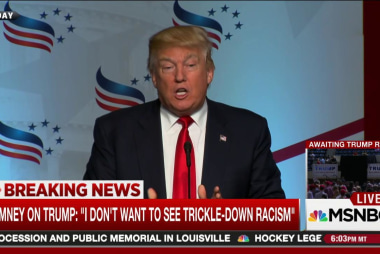 Trump and 'trickle-down racism'