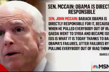 McCain blames Obama for Orlando attack
