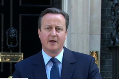 UK Prime Minister announces he is resigning