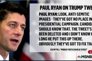 Ryan criticizes Trump's use of social media
