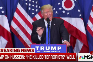 Trump defends comments about Saddam Hussein