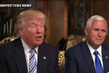 Trump on Pence's Iraq vote: 'He's entitled...