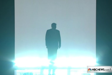 Donald Trump makes dramatic RNC entrance