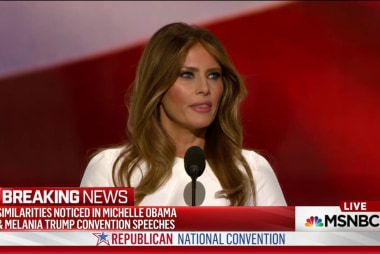 Melania Trump speech echoes unlikely source
