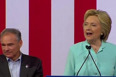 Clinton: Tim is a 'progressive who likes...