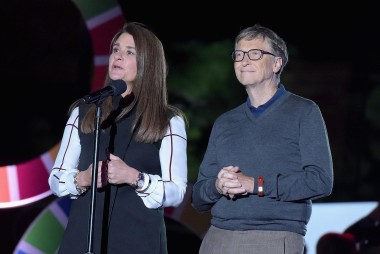 Bill and Melinda Gates at Global Citizen...