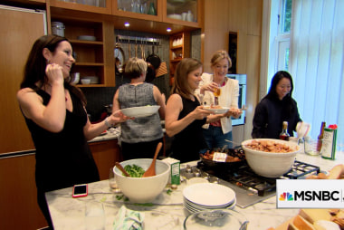 Women brainstorming business ideas at JJ's