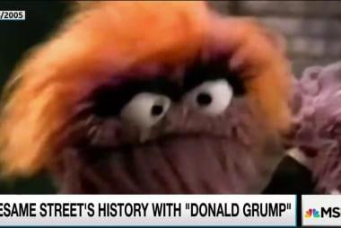 'Donald Grump' visits Sesame Street