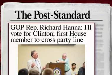 First GOP House member to vote for Clinton