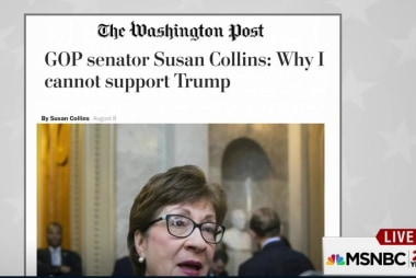 GOP Senator Susan Collins won't back Trump