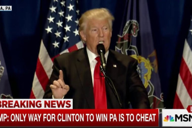 Trump, losing, develops 'cheating' excuse