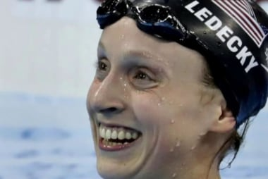 Gold medal Olympic swimmers speak on...