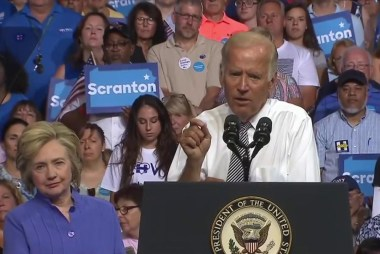 Biden slams Trump qualifications at PA rally