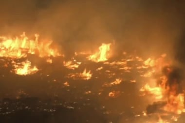'Blue Cut' fire out of control in California