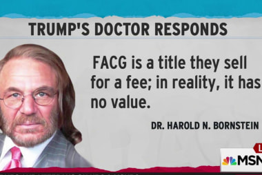 Trump doctor touts bogus credential