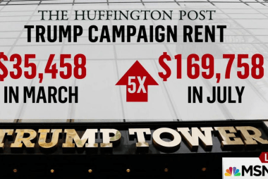Report: Trump hikes rent on own campaign...