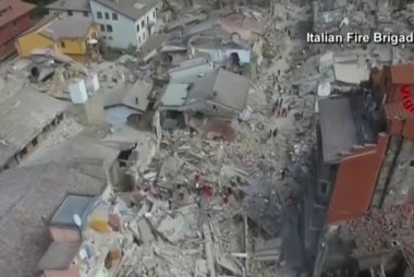 Rescue works continue search in Italy