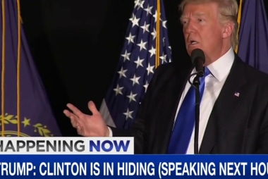 Donald Trump: 'Hillary Clinton has been...