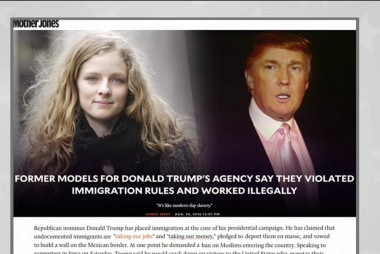 Report: Former Trump models worked illegally