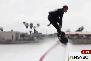 Flyboard becomes aerial fire extinguisher