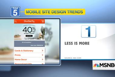 5 design trends for mobile websites