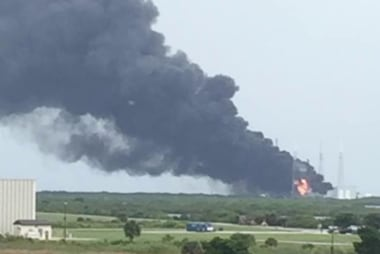 SpaceX rocket explodes on launch pad in FL