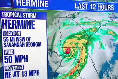 Tropical Storm Hermine moving up the East...