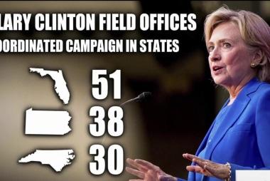 Clinton ground game picks up steam