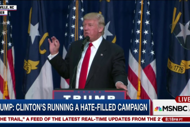 Trump: Clinton's running hate-filled campaign