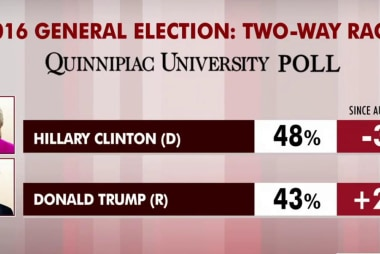 Clinton leads but Trump gains ground: polls