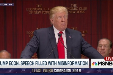 Trump econ speech filled w/ Misinformation