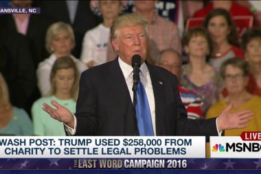 Trump foundation cash for personal use?