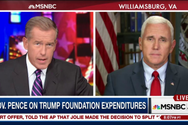 Mike Pence responds to Trump Foundation...