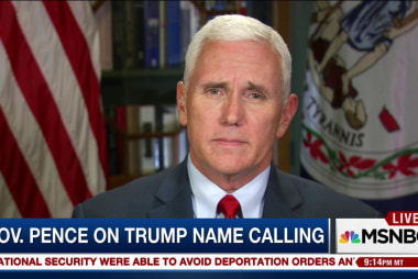 Mike Pence responds to Trump's name calling