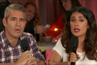 Salma Hayek and Andy Cohen fight sexism