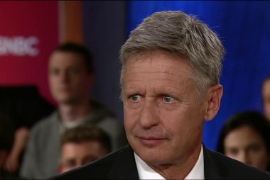 Gary Johnson: 'I'm having an Aleppo moment'