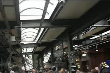 N.J. train accident in Hoboken terminal