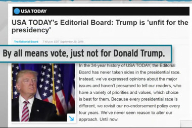 USA Today publishes Trump anti-endorsement