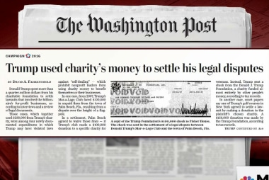 Trump's use of charity funds under scrutiny