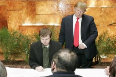 How did Trump behave on 'The Apprentice' set?