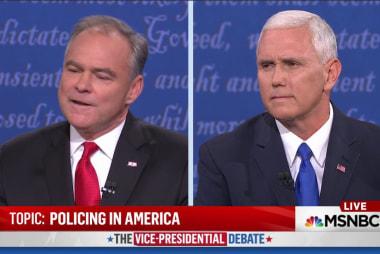 Interruptions characterize VP debate